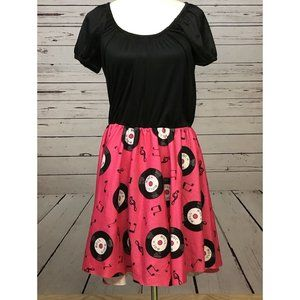 Sock Hop Poodle Skirt Costume Small Dress Records